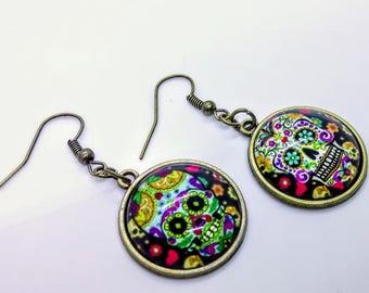 Sugarskull Earrings Mismatched Jewellery
