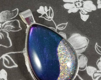 Teardrop Multichrome and Holo Necklace