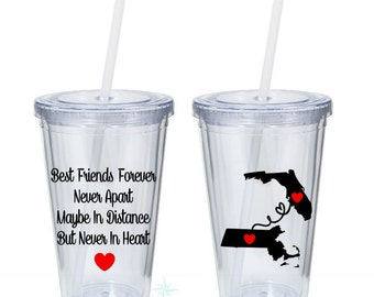 Best Friends Tumbler, Best friend Gift, Long Distance Best Friend, Best Friend Birthday Gift, Best Friend Long Distance, Friendship Tumbler