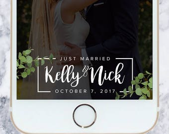 Custom Wedding Filter - Geofilter | Snapchat Filter | Eucalyptus | Simple | Clean | Personalized