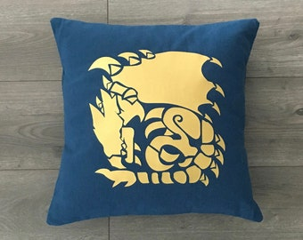 Monster Hunter Rathalos Inspired Throw Pillow Cover