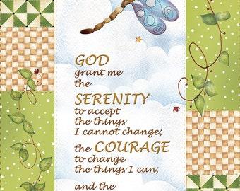 Printable Bookmarks Flowers Serenity Prayer Instant