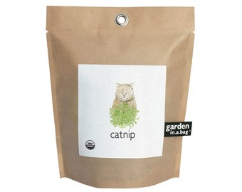 Catnip Garden-in-a-Bag – Grow Kit – Cat gift – Kitten – Cat Lover – Catnip – Eco-friendly – Small Spaces - Mothers Day