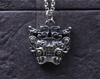 S925 sterling silver retro pendant At least he pendant