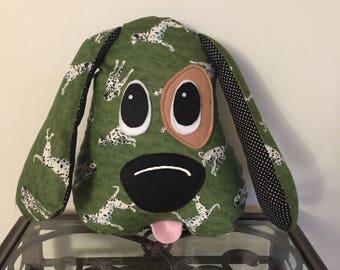 Dalmation Print Handmade Stuffed Dog