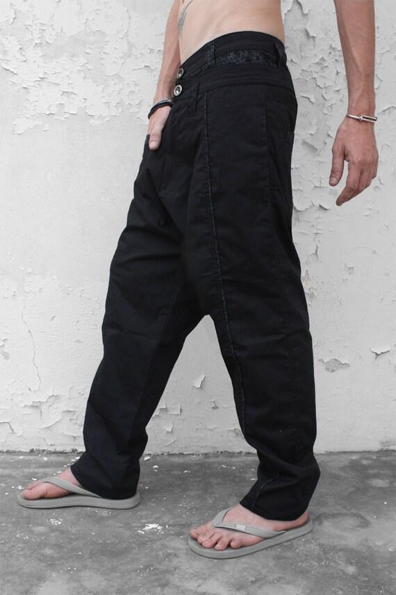Slim harem pants men - Fractal - L size YhfNd