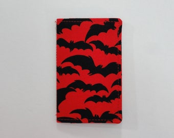 Red and Black Bats Mini Wallet
