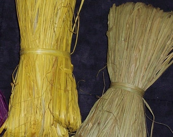 raffia,1 oz,assorted colors,yellow, purple,greenish tan,natural,gift wrapping,embellishment,crafts,florals,country,natural package ribbon