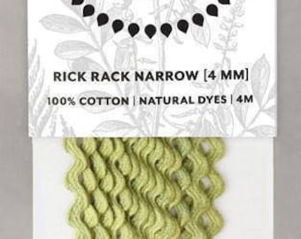Naturally Dyed 4mm Rick Rack-Leaf Green