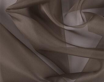 Latte Silk Organza, Fabric By The Yard