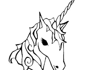 unicorn head print