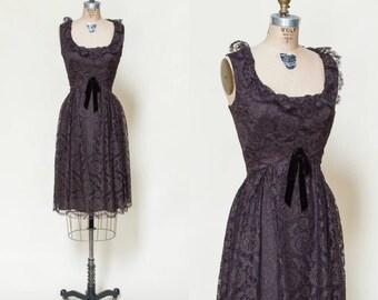 Vintage Holiday Dress --- 1960s Neiman Marcus Dress