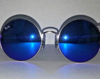 Brand New Rayban Round Ja-Jo Sunglasses RB3592 112/17 55 20 3N Gold Blue