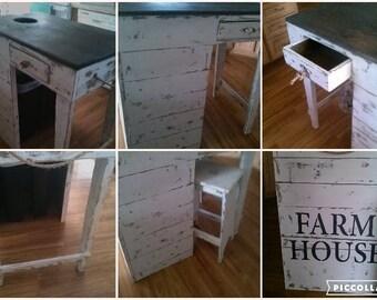 Farmhouse Kitchen Island / prep station  / Shiplap style