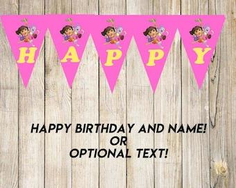 Dora the explorer Birthday Banner-YOU PRINT
