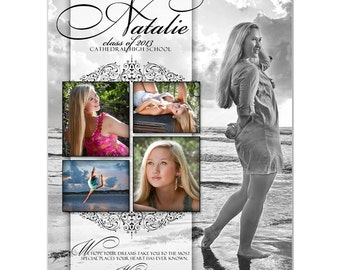 Senior Yearbook Ads Photoshop Templates - SIMPLY CLASSIC - High School Yearbook Ad Custom Design.