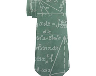 Math Geek Formulas Chalkboard All Over Neck Tie
