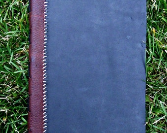 Black leather journal