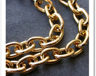aluminium gold finish, piece of chain 60cm chain