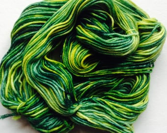 HAND-DYED YARN - 100% Wool - Double Knit weight - Rainbow dyed - 50gm