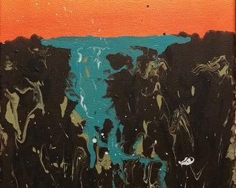 Acrylic Drip Painting - Water fall
