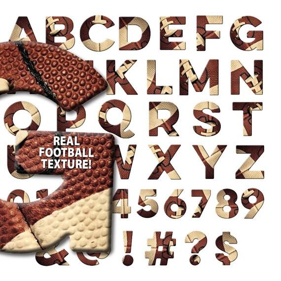 Football Alphabet Font Letters Numbers Symbols Clipart Clip