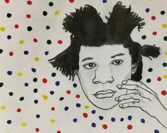 Genius In The Madness Portrait Fine Art Print