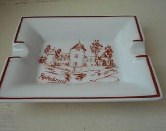 vintage Limoges porcelain rectangle shaped ashtray