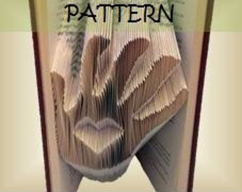 Book folding Pattern: Heart in Hand design (including instructions) – DIY gift – Papercraft Tutorial