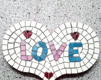Wooden Heart Mosaic