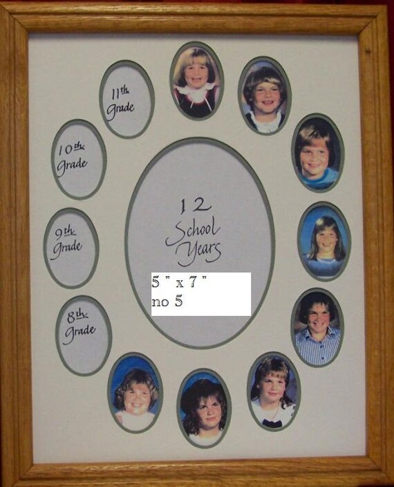 School Days year Photo Mat for 11 x 14 Frame