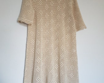 Vintage Crochet Dress - Size 8-10
