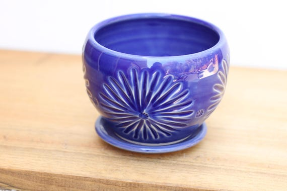cobalt succulent planter // cactus planter // succulent pot // ceramic pot // flower pot