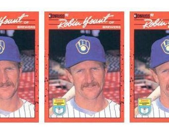 5 - 1990 Donruss Learning Series #37 Robin Yount Baseball Card Lot Brewers