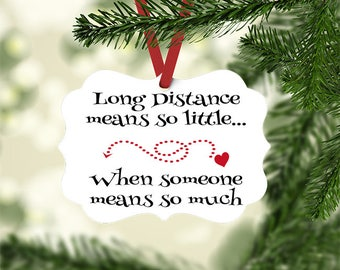 Best Friend Gift, Long Distance Christmas Ornament gift, christmas gift for friend, Miss You Gift, Thinking of You Gift, for Best Friends