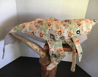 Orange and Tan Floral Delilah Style Whale - Dishonored Inspired