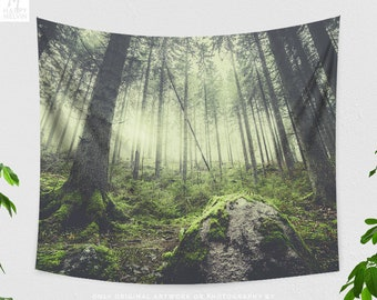 Woods Tapestry, Forest Wall Tapestry, Nature Wall Tapestry, Nature Wall Decor, Forest Photo, Boho Wall Hanging, Nature Art, Gift, Wall Art