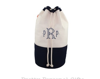 Canvas Laundry Bag - Monogrammed Laundry Bag - Navy Laundry Tote - Pink Laundry Bag - Gray Laundry Bag - Graduation Gift