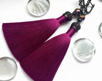 Chic brush earrings Purple TanyaGrit