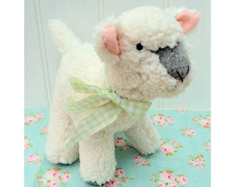 Baby Lamb Softie pdf sewing pattern instant download