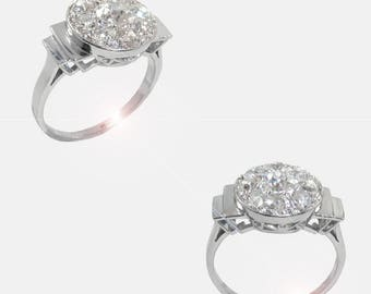 Venus platinum diamond ring