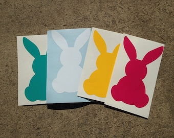 Bunny decal, Easter Bunny, Easter Decal, Crafts, Bunny Sticker, Vinyl Decal