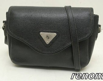 Renoma Paris crossbody bag black vtg