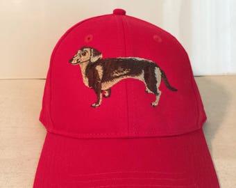 Embroidered Dachshund Cap