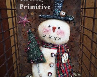 Primitive Christmas Tree - Christmas trees -  Christmas tree - primitive decor - christmas decor - winter decor .