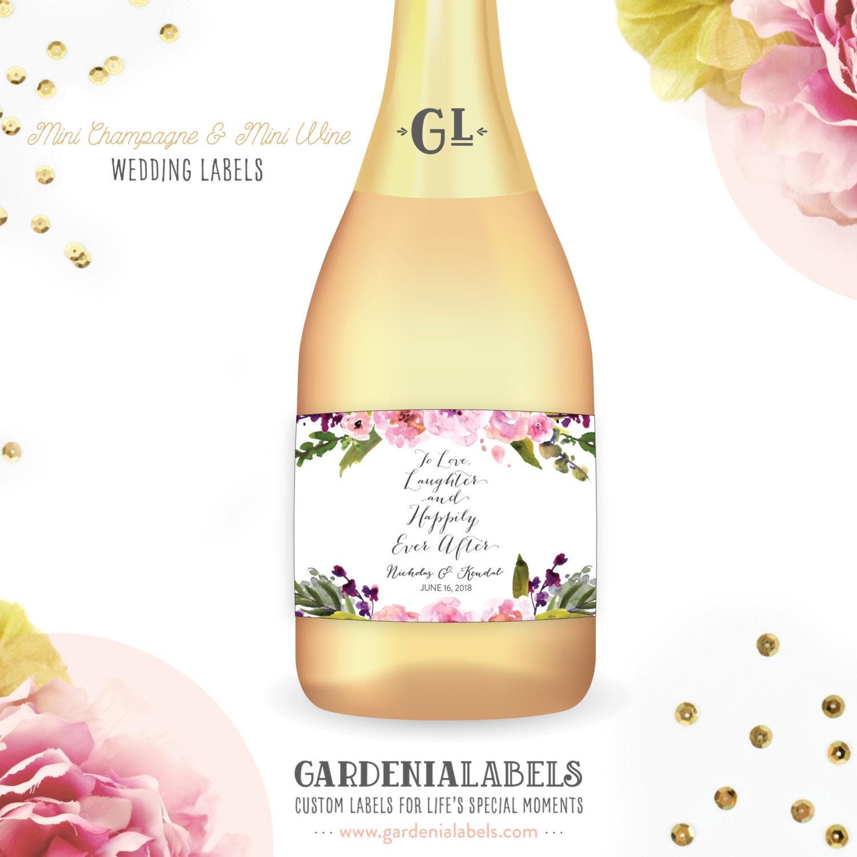 Wedding Favor Mini Champagne Label Mini Wine Bottle Labels