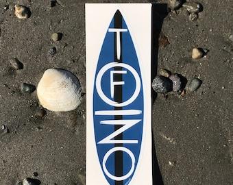 Far Sky Typographic Tofino Surfboard Vinyl Sticker