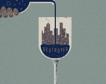 Destroyer gig poster