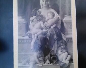 Original Framed 1878 George Barrie  Published Artist William Adolf Bouguereau