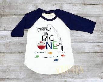 First Birthday, Fishing First Birthday, The Big One, Ofishally One shirt, Cake Smash, Fishing Pole, Fishing Birthday Shirt, 1st Birthday